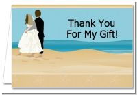 Beach Couple - Bridal | Wedding Thank You Cards
