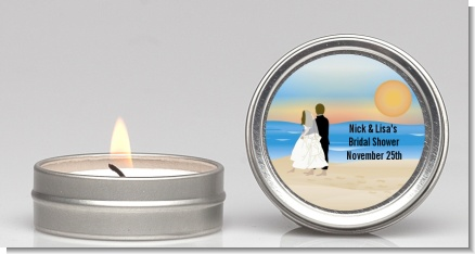 Beach Couple - Bridal Shower Candle Favors