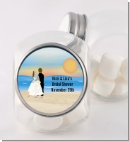 Beach Couple - Personalized Bridal Shower Candy Jar