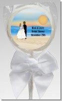 Beach Couple - Personalized Bridal Shower Lollipop Favors