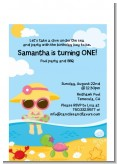 Beach Girl - Birthday Party Petite Invitations
