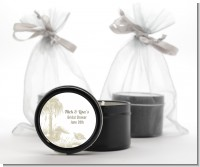 Beach Scene - Bridal Shower Black Candle Tin Favors