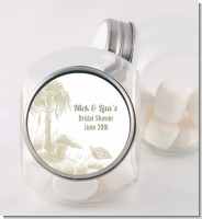 Beach Scene - Personalized Bridal Shower Candy Jar