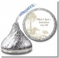 Beach Scene - Hershey Kiss Bridal Shower Sticker Labels thumbnail