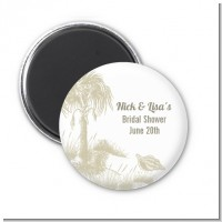 Beach Scene - Personalized Bridal Shower Magnet Favors