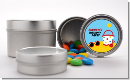 Beach Toys - Custom Birthday Party Favor Tins