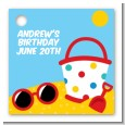 Beach Toys - Personalized Birthday Party Card Stock Favor Tags thumbnail