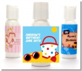 Beach Toys - Personalized Birthday Party Lotion Favors