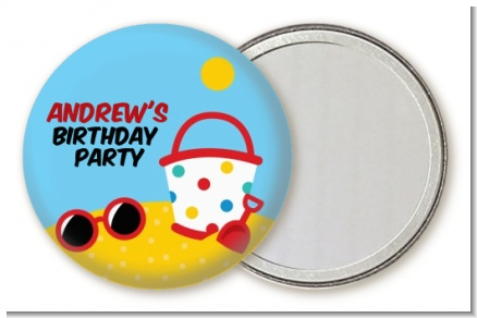 Beach Toys - Personalized Birthday Party Pocket Mirror Favors
