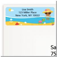 Beach Baby African American Girl - Baby Shower Return Address Labels