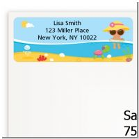 Beach Baby Hispanic Girl - Baby Shower Return Address Labels