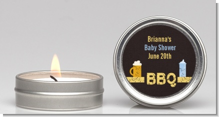 Beer and Baby Talk - Baby Shower Candle Favors