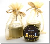 Beer and Baby Talk - Baby Shower Gold Tin Candle Favors