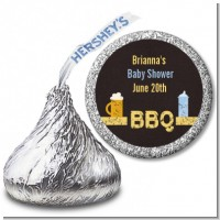 Beer and Baby Talk - Hershey Kiss Baby Shower Sticker Labels
