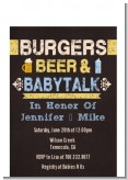 Beer and Baby Talk - Baby Shower Petite Invitations