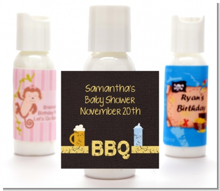 Beer and Baby Talk - Personalized Baby Shower Lotion Favors