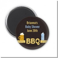 Beer and Baby Talk - Personalized Baby Shower Magnet Favors