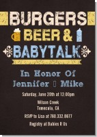 Beer and Baby Talk - Baby Shower Invitations