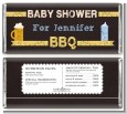 Beer and Baby Talk - Personalized Baby Shower Candy Bar Wrappers thumbnail