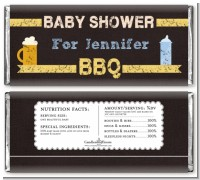 Beer and Baby Talk - Personalized Baby Shower Candy Bar Wrappers