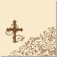 Brown and Beige Cross Baptism Theme