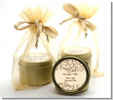 Beige & Brown - Bridal Shower Gold Tin Candle Favors