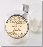 Beige & Brown - Personalized Bridal Shower Candy Jar