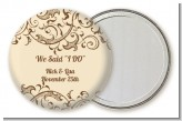 Beige & Brown - Personalized Bridal Shower Pocket Mirror Favors