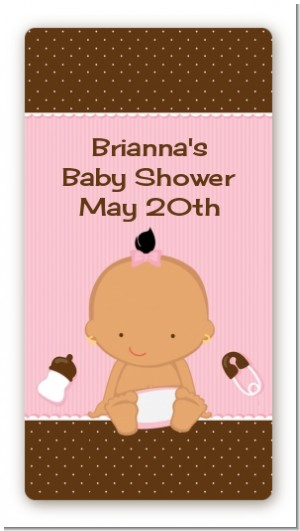 Baby Girl Hispanic - Custom Rectangle Baby Shower Sticker/Labels