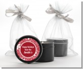 Big Red Snowflake - Christmas Black Candle Tin Favors