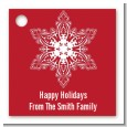 Big Red Snowflake - Personalized Christmas Card Stock Favor Tags thumbnail