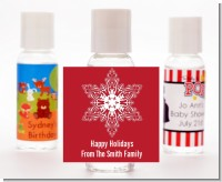 Big Red Snowflake - Personalized Christmas Hand Sanitizers Favors
