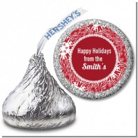 Big Red Snowflake - Hershey Kiss Christmas Sticker Labels