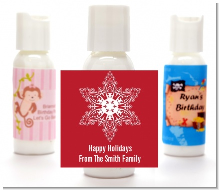 Big Red Snowflake - Personalized Christmas Lotion Favors