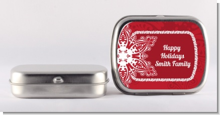 Big Red Snowflake - Personalized Christmas Mint Tins