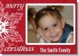 Big Red Snowflake - Personalized Photo Christmas Cards thumbnail