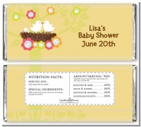 Bird's Nest - Personalized Baby Shower Candy Bar Wrappers