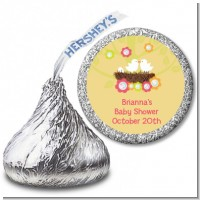 Bird's Nest - Hershey Kiss Baby Shower Sticker Labels