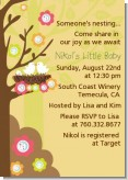 Bird's Nest - Baby Shower Invitations