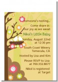Bird's Nest - Baby Shower Petite Invitations