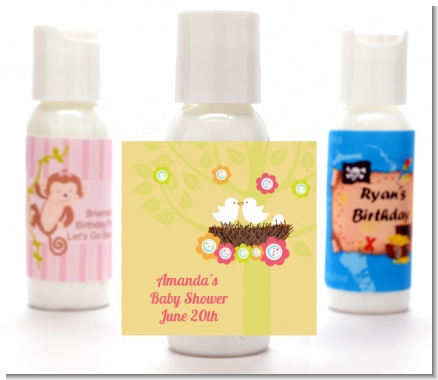 Bird's Nest - Personalized Baby Shower Lotion Favors