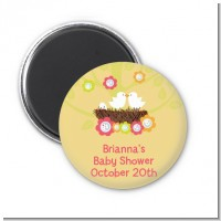 Bird's Nest - Personalized Baby Shower Magnet Favors