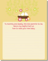 Bird's Nest - Baby Shower Notes of Advice