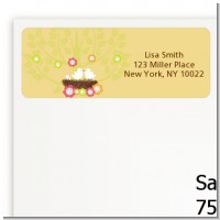 Bird's Nest - Baby Shower Return Address Labels