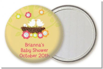 Bird's Nest - Personalized Baby Shower Pocket Mirror Favors