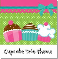 Cupcake Trio Birthday Party Theme