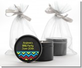 Birthday Boy Chalk Inspired - Birthday Party Black Candle Tin Favors