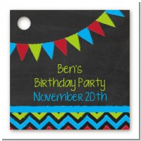 Birthday Boy Chalk Inspired - Personalized Birthday Party Card Stock Favor Tags