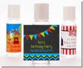 Birthday Boy Chalk Inspired - Personalized Birthday Party Hand Sanitizers Favors