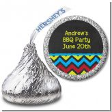 Birthday Boy Chalk Inspired - Hershey Kiss Birthday Party Sticker Labels